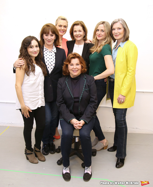 Director Marsha Mason with cast Lucy DeVito, Patricia Richardson, Elaine Hendrix, Jessica Walter, Clea Alsip and Susan Sullivan