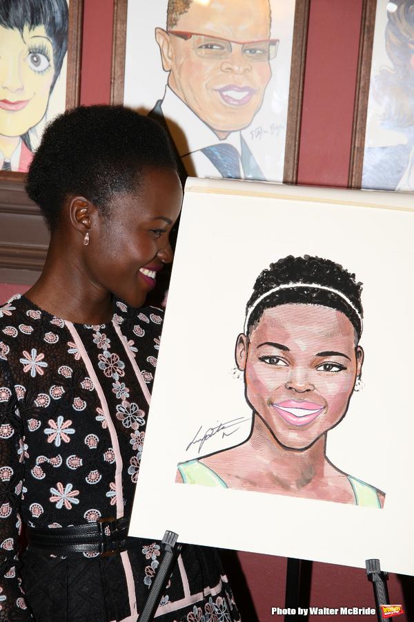 Photo Coverage: ECLIPSED's Lupita Nyong'o Celebrates Her New Sardi's Portrait!