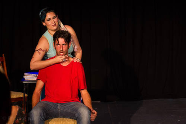 Lauren Ashleigh Morrison as Nessa Reilly and Daniel Drnach as Douglas Townshend in 'The Unavailable Man Magnet'Photo Credit: Brooke Jordan