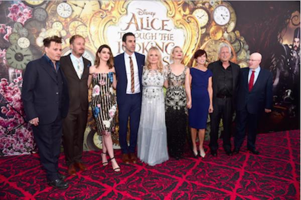 Johnny Depp, Anne Hathaway, Mia Wasikowska and Sacha Baron Cohen