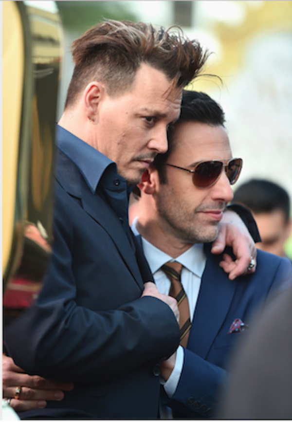 Johnny Depp and Sacha Baron Cohen
