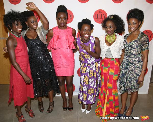 Zainab Jah, Saycon Sengbloh, Danai Gurira, Lupita Nyong'o, Akosua Busia and Pascale Armand