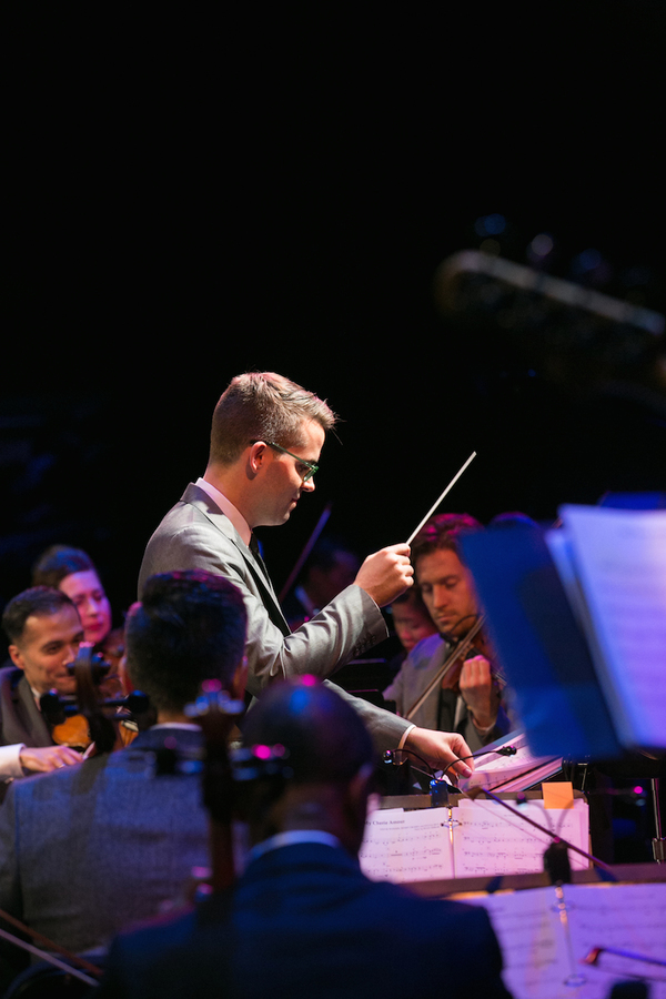 Luke Frazier conducting the American Pops Orchestra