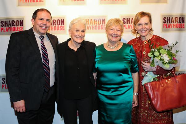 John Simpkins, Glenn Close, Sharon Playhouse Board President Bobbie Olsen, Terre Blair Hamlisch