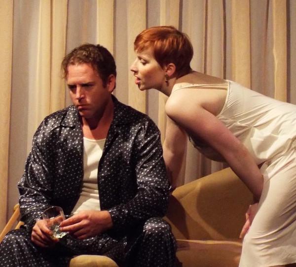 John Helmke as Brick and Cat Miller as Maggie Photo