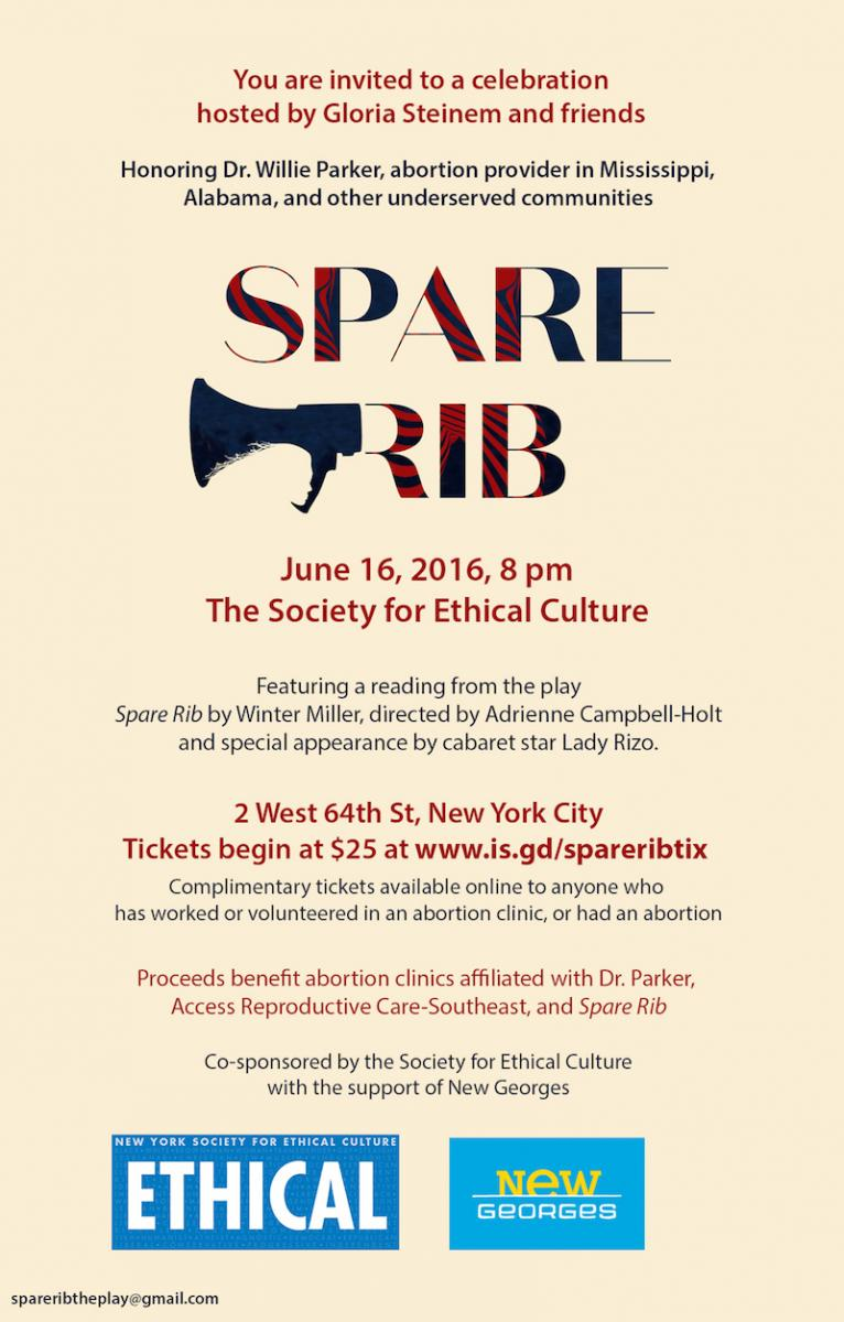Gloria Steinem and Friends Present A Reading From Winter Miller' SPARE RIB