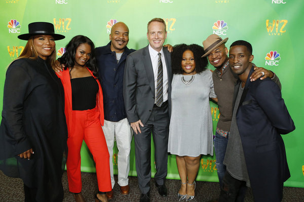 THE WIZ LIVE! -- Television Academy Event at The DGA, Los Angeles, June 1, 2016 -- Pictured: (l-r) Queen Latifah, Shanice Williams,  David Alan Grier; Robert Greenblatt, Chairman, NBC Entertainment; Amber Riley, NE-YO, Elijah Kelley -- (Photo by: Trae Pat