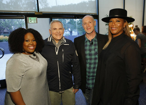 THE WIZ LIVE! -- Television Academy Event at The DGA, Los Angeles, June 1, 2016 -- Pictured: (l-r) Amber Riley, Craig Zadan, Executive Producer; Neil Meron, Executive Producer; Queen Latifah -- (Photo by: Trae Patton/NBC)