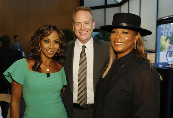 THE WIZ LIVE! -- Television Academy Event at The DGA, Los Angeles, June 1, 2016 -- Pictured: (l-r) Holly Robinson Peete, Robert Greenblatt, Chairman, NBC Entertainment; Queen Latifah -- (Photo by: Trae Patton/NBC)