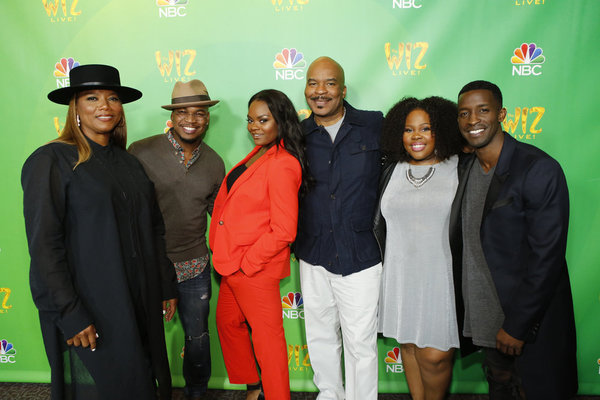 THE WIZ LIVE! -- Television Academy Event at The DGA, Los Angeles, June 1, 2016 -- Pictured: (l-r) Queen Latifah, NE-YO, Shanice Williams, David Alan Grier, Amber Riley, Elijah Kelley -- (Photo by: Trae Patton/NBC)
