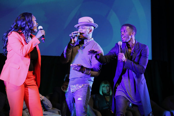 THE WIZ LIVE! -- Television Academy Event at The DGA, Los Angeles, June 1, 2016 -- Pictured: (l-r) Shanice Williams, NE-YO, Elijah Kelley -- (Photo by: Trae Patton/NBC)