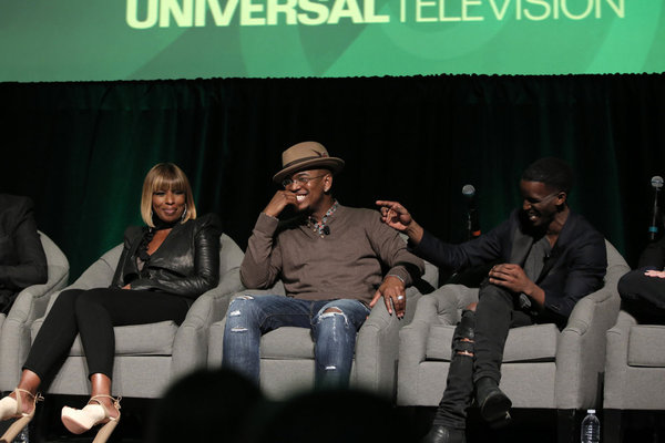 THE WIZ LIVE! -- Television Academy Event at The DGA, Los Angeles, June 1, 2016 -- Pictured: (l-r) Mary J. Blige, NE-YO, Elijah Kelley -- (Photo by: Chris Haston/NBC)