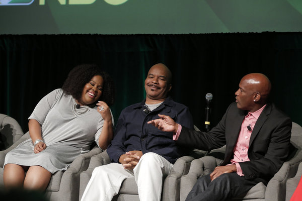 THE WIZ LIVE! -- Television Academy Event at The DGA, Los Angeles, June 1, 2016 -- Pictured: (l-r) Amber Riley, David Alan Grier, Kenny Leon, Director -- (Photo by: Chris Haston/NBC)