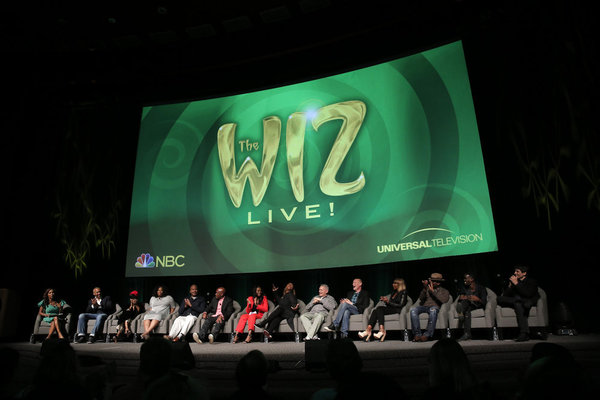 THE WIZ LIVE! -- Television Academy Event at The DGA, Los Angeles, June 1, 2016 -- Pictured: (l-r) Holly Robinson Peete, Moderator; Harvey Mason, Jr., Composer; Fatima Robinson, Choregorapher; Amber Riley, David Alan Grier, Kenny Leon, Director; Shanice W