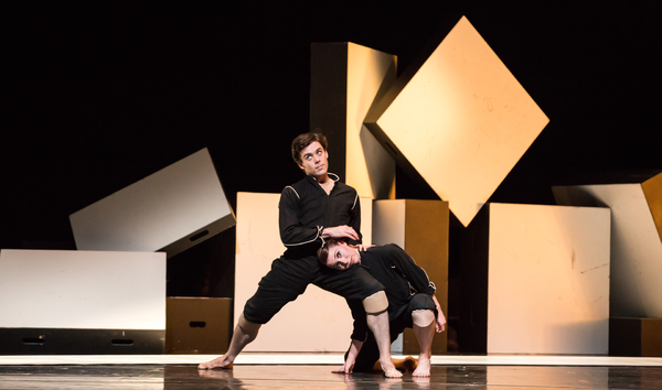 "Connor Walsh, left, and Jessica Collado, right, in ""Cacti"""