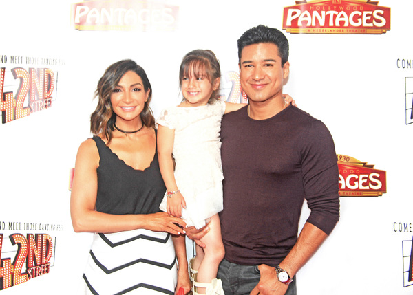 Mario Lopez, wife Courtney, daughter Gia
