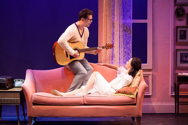Michael Siktberg (center, Buddy Holly) and Beatriz Maranjo (Maria Elena Holly) in 'BU Photo