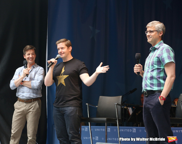 Sean Hayes, Rory O'Malley and Mo Rocca
