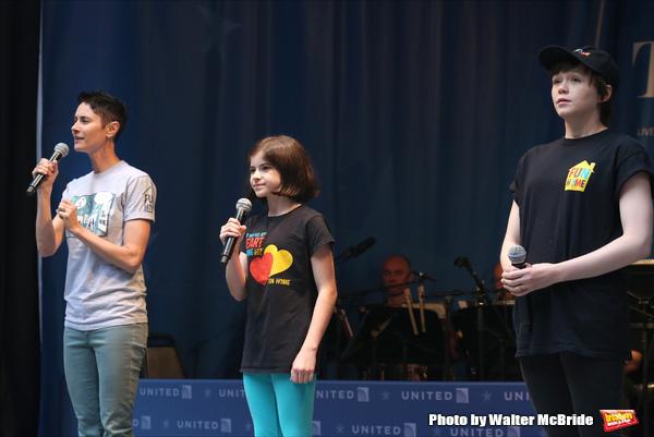 Beth Malone, Gabriella Pizzolo and Emily Skeggs