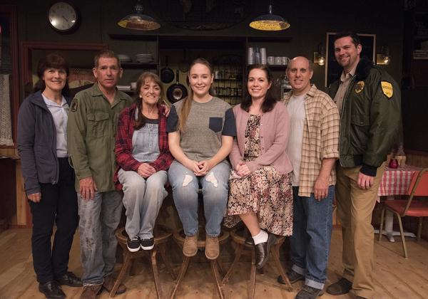 The cast (from left):Susan Susan Stangl, Phil Apoian, Joanna Churgin, Alyssa Rupert, Darcy Silveira, Terry Delegeane, Ross Chitwood