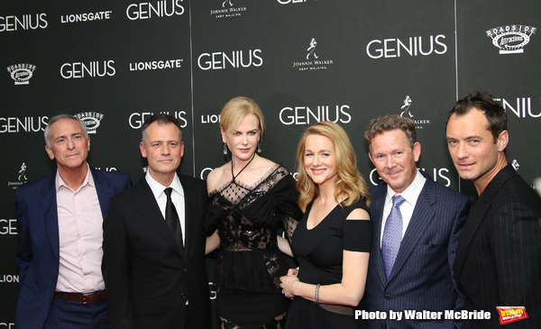 A. Scott Berg, Michael Grandage, Nicole Kidman, Laura Linney, John Logan and Jude Law