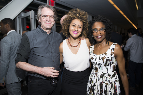 LCT Resident Director Bartlett Sher (upcoming: Oslo at the Mitzi E. Newhouse) celebrates with his  former assistant from the LCT production of Joe Turner's Come and Gone, War director Lileana Blain-  Cruz and actress Charlayne Woodard.