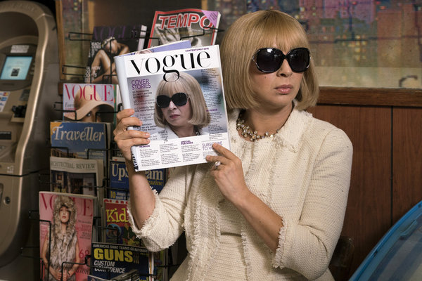 """MAYA & MARTY -- Episode 101 -- Pictured: Maya Rudolph as Anna Wintour during the """"Anna Wintour: My NY"""" sketch on May 31, 2016 -- (Photo by: Barbara Nitke/NBC)"""