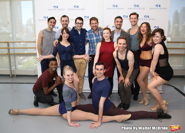 Al Blackstone, Daniel C. Levine and Bryan Perri with the dancers
