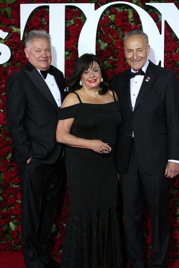 President of The Broadway League Charlotte St. Martin and Senator Chuck Schumer Photo