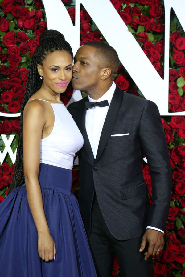 Nicolette Robinson and Leslie Odom Jr.
