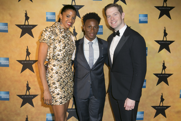 Renee Elise Goldsberry, Gregory Haney and Rory O'Malley
