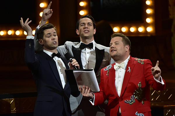 Andrew Rannells, Zachary Levi, and James Corden