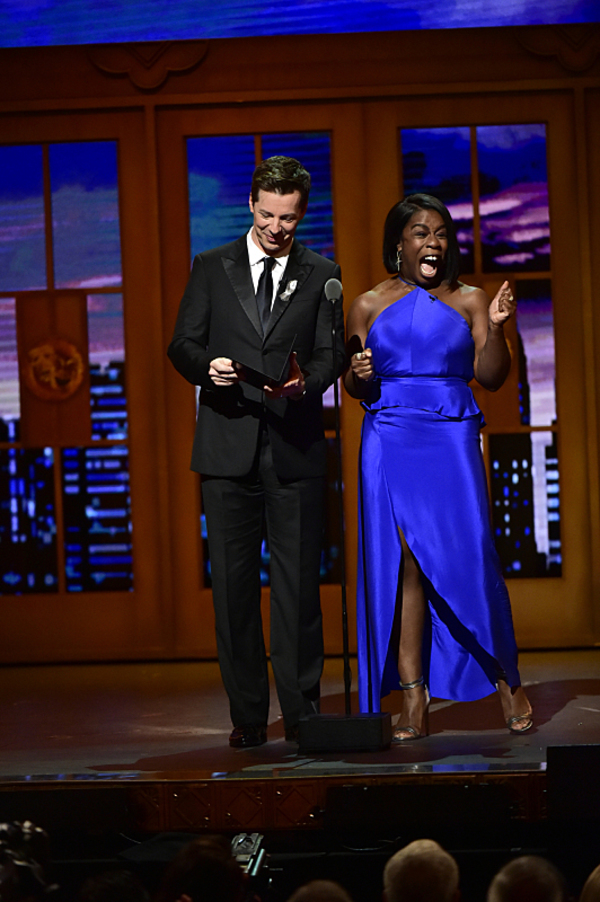 Sean Hayes and Uzo Aduba