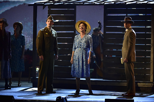 Steve Martin, Edie Brickell, and the cast of Bright Star