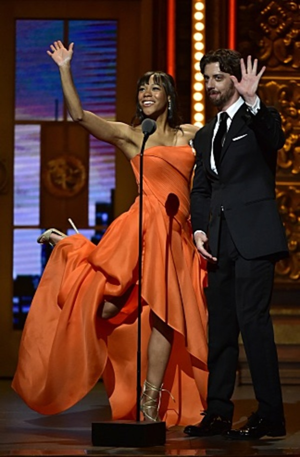 Nikki M. James and Christian Borle