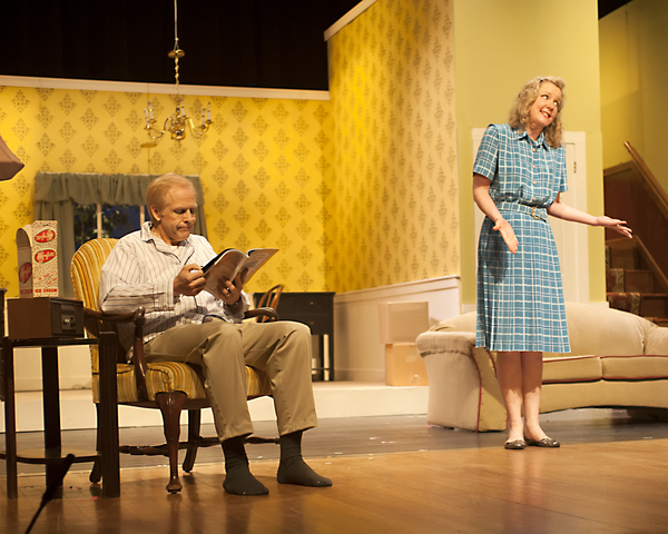 Robert Lunde as Russ and Tina Huey as Bev