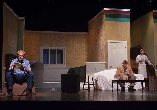 Robert Lunde as Dan, Justin Mullis as Kenneth, and Tina Huey as Bev