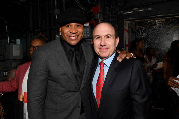 NEW YORK, NY - JUNE 13:  LL Cool J and President, CEO and Chairman of Viacom Philippe Dauman attend Prince Walk of Fame Induction and 2016 Spring Gala at The Apollo Theater on June 13, 2016 in New York City.  (Photo by Shahar Azran/WireImage)