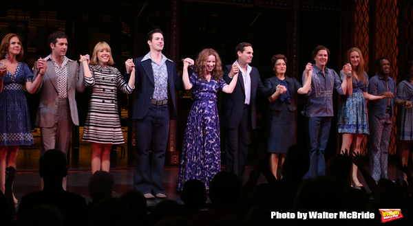 Ben Jacoby, Jessica Keenan Wynn, Scott J. Campbell, Chilina Kennedy, Paul Anthony Stewart and Liz Larsen with the cast
