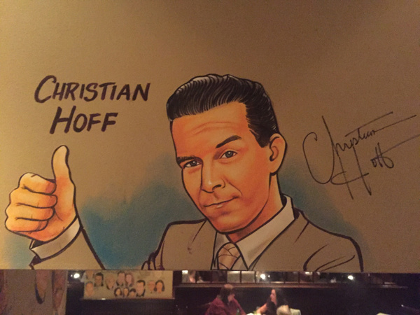 Christian Hoff's caricature on the Palm West's new Tony wall