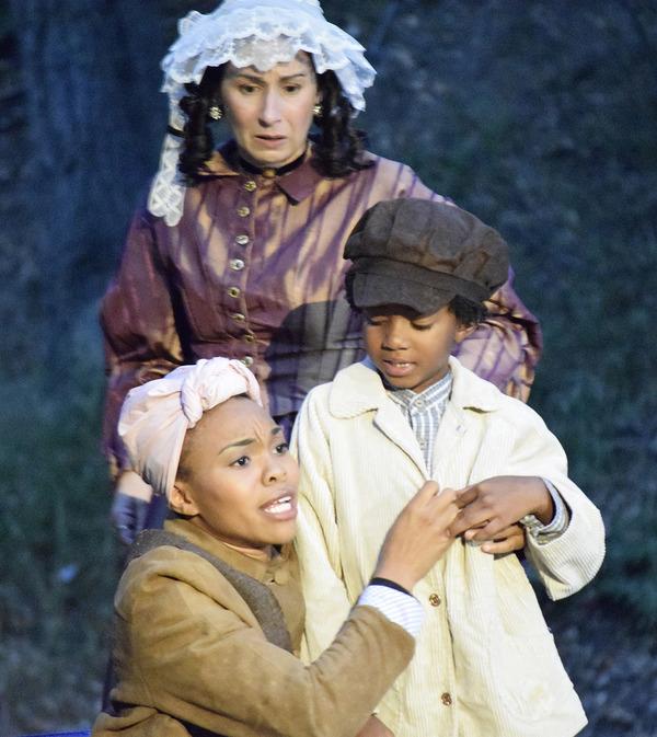 Elizabeth Tobias, Jasmine Gatewood, and Angelo Fowler