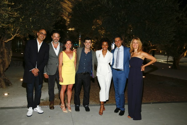 Ayad Akhtar, J Anthony Crane,  Kimberly Senior and Behzad Dabu, Karen Pittman, Hari Dhillon and Emily Swallow