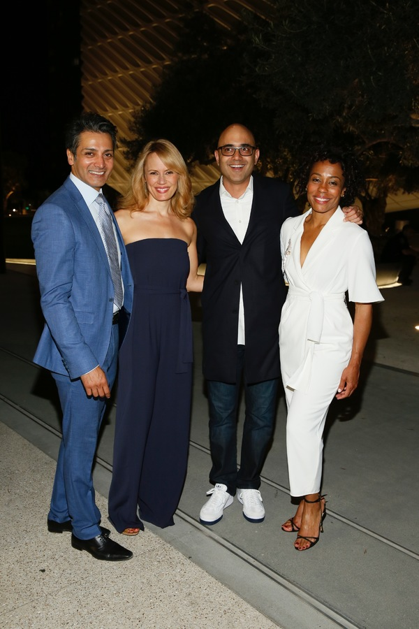 Cast members Hari Dhillon and Emily Swallow, playwright Ayad Akhtar and cast member Karen Pittman