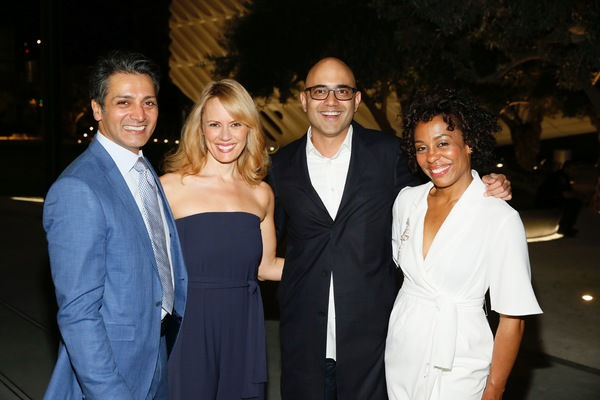 Hari Dhillon and Emily Swallow, Ayad Akhtar and Karen Pittman