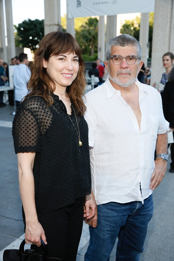 Actress Rebecca Pidgeon and David Mamet