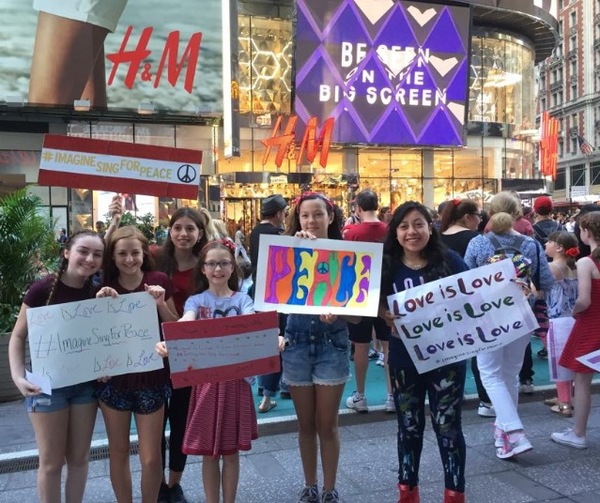 Photo Flash: Broadway Youth Perform 'Imagine' for Peace in Orlando