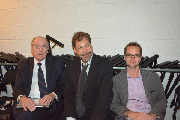 Paxton Whitehead, David Staller and Michael Riedel
