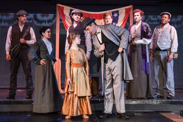 Abigail Shapiro and Brandon Andrus with the cast of 'LIBERTY' Photo