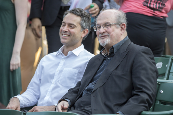 Omar Metwally and Salman Rushdie