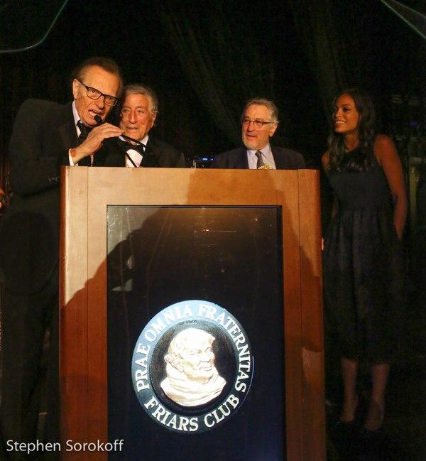 Larry King, Tony Bennett, Robert De Niro, Rosario Dawson